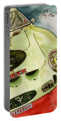 62 Ferrari 250 Gto Signed By Sir Stirling Moss Portable Battery Charger by Anna Ruzsan