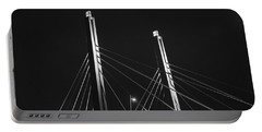 6th Street Bridge Black And White Portable Battery Charger