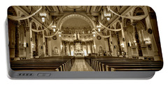 Holy Cross Catholic Church Portable Battery Charger by Amanda Stadther