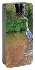 Blue Heron On The East Verde River Portable Battery Charger