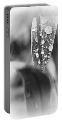 Raindrops On Grass  Portable Battery Charger