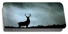 Portable Battery Charger featuring the photograph Stag Silhouette by Gavin Macrae