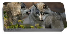 Timber Wolves Portable Battery Charger