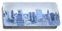 View Of Skylines In A City, Chicago Portable Battery Charger