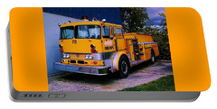 Portable Battery Charger featuring the photograph 710 ....... Fire Dept. by Daniel Thompson