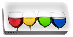 Colorful Wine Glasses Portable Battery Charger