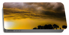Late Afternoon Nebraska Thunderstorms Portable Battery Charger