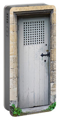 Old Door Portable Battery Charger by Tom Gowanlock