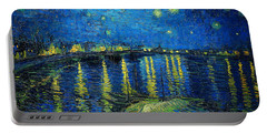 Starry Night Over The Rhone Portable Battery Charger