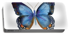 80 Imperial Blue Butterfly Portable Battery Charger