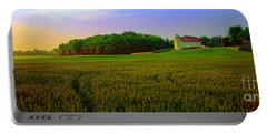 Conley Road, Spring, Field, Barn   Portable Battery Charger