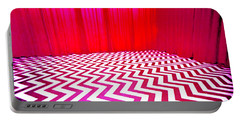 Portable Battery Charger featuring the painting Black Lodge by Luis Ludzska