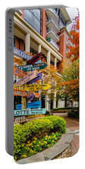 Charlotte City Skyline Autumn Season Portable Battery Charger