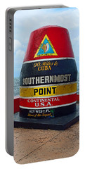 Southernmost Point Key West - 90 Miles To Cuba Portable Battery Charger