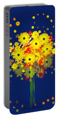 952 - Summer Flowers  Yellow ... Portable Battery Charger by Irmgard Schoendorf Welch