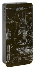 1961 Fender Bass Pickup Patent Art Portable Battery Charger by Gary Bodnar