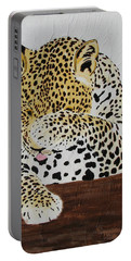 Portable Battery Charger featuring the painting 97.. 95..99....100  Ready Or Not by Stephanie Grant