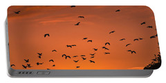 Birds At Sunset Portable Battery Charger