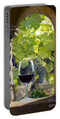 A Beautiful Day At The Vineyard Portable Battery Charger