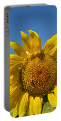 A Beautiful Day In The Sunflower Neighborhood Portable Battery Charger by Eva Kaufman