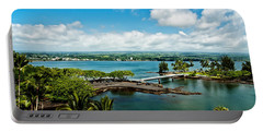 A Beautiful Day Over Hilo Bay Portable Battery Charger by Christopher Holmes