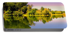 A Beautiful Day Reflected Portable Battery Charger by Joyce Dickens