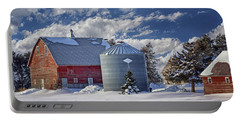 A Beautiful Winter Day Portable Battery Charger by Nikolyn McDonald
