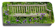 A Bench For The Flowers Portable Battery Charger by Gary Slawsky