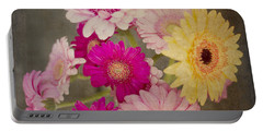 A Bouquet Of Gerbera Daisies Portable Battery Charger