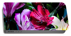 A Bouquet Of Peruvian Lilies Portable Battery Charger
