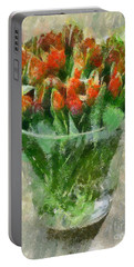 A Bouquet Of Tulips Portable Battery Charger by Dragica  Micki Fortuna