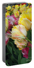 A Bouquet Of Tulips For You Portable Battery Charger by Eva Kaufman