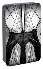 A Brooklyn Perspective Portable Battery Charger by Az Jackson