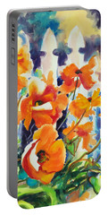 A Choir Of Poppies Portable Battery Charger