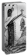 Portable Battery Charger featuring the painting Old Church by Salman Ravish