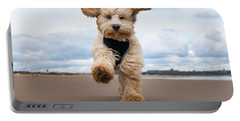 A Cockapoo Running Towards The Camera Portable Battery Charger
