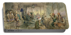 A Coffee House, Constantinople, 1854 Portable Battery Charger