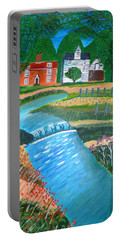 A Country Stream Portable Battery Charger by Magdalena Frohnsdorff