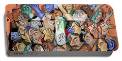 A Cubist Prayer One World One God Portable Battery Charger