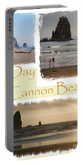 A Day On Cannon Beach Portable Battery Charger