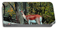 A Deer Look Portable Battery Charger by Lydia Holly