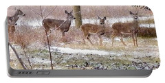 A Dusting On The Deer Portable Battery Charger