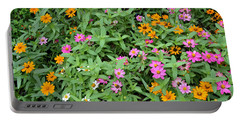 A Field Of Flowers Portable Battery Charger by Eva Kaufman