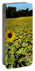 A Field Of Sunflowers Portable Battery Charger by Eva Kaufman