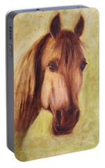 Portable Battery Charger featuring the painting A Fine Horse by Xueling Zou