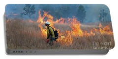 A Firefighter Ignites The Norbeck Prescribed Fire. Portable Battery Charger