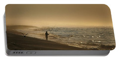 Portable Battery Charger featuring the photograph A Fisherman's Morning by GJ Blackman