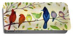 A Flock Of Many Colors Portable Battery Charger
