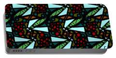 Portable Battery Charger featuring the digital art A Fly Of Sorts And Berries by Elizabeth McTaggart
