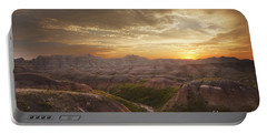 A Good Sunrise In The Badlands Portable Battery Charger